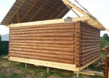 Фундамент на винтовых сваях для дома из бруса