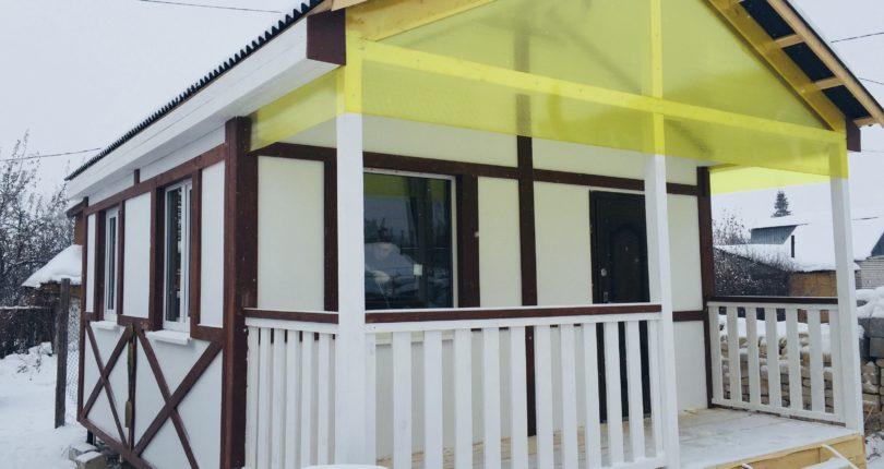 Дачный дом в стиле фахверк. СНТ Нефтепродукт