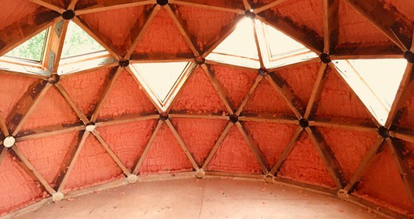 Геодезический купол 4 метра в диаметре